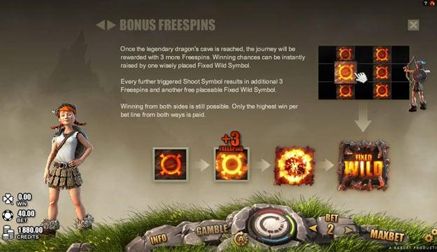 Бонусные особенности автомата Dragons Myth