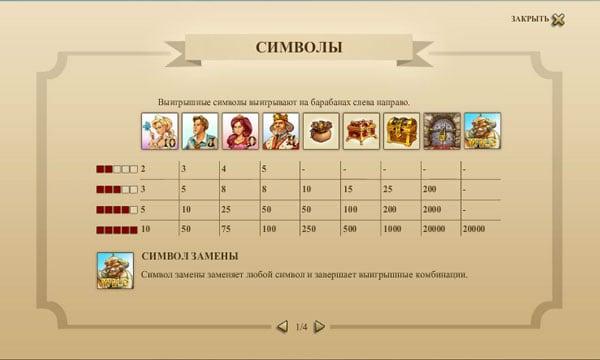 Символы игры в Castle Builder