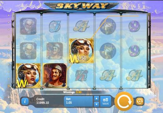 Призовая комбинация знаков в игровом автомате SkyWay