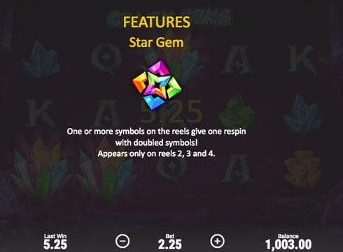 Особености игрового аппарат Crazy Gems