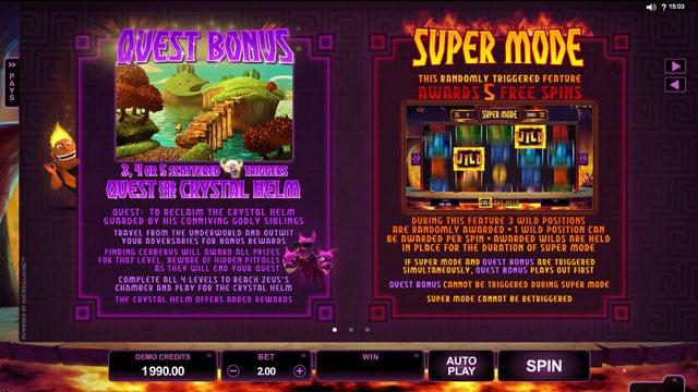 Бонусные режимы игрового аппарата Hot As Hades