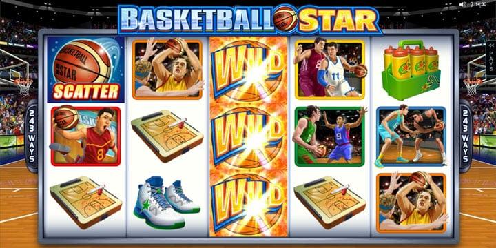 Комбинация для выплат в игровом автомате  Basketball Star