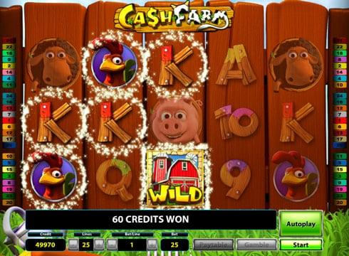 Пизовая комбинация с диким знаком в игровом автомате Cash Farm