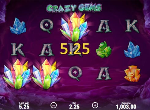 Призовая комбинация в игровом автомате Crazy Gems
