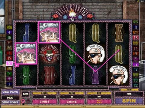 Призовая комбинация на линии в игровом автомате Hells Grannies