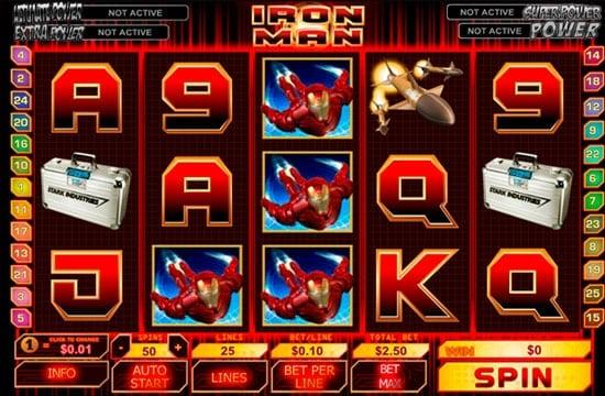 Призовая комбинация в игровом автомате Iron Man