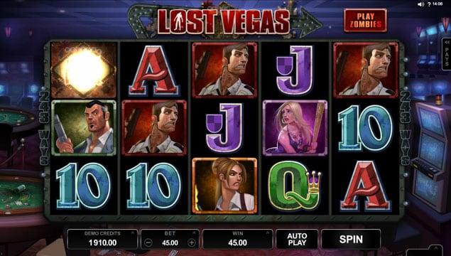 Призоавя комбинация символов в игровом автоматм Lost Vegas