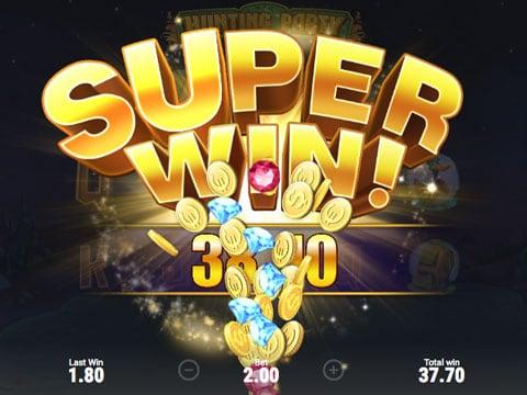 Супер призовая комбинация в игровом автомате Hunting Party