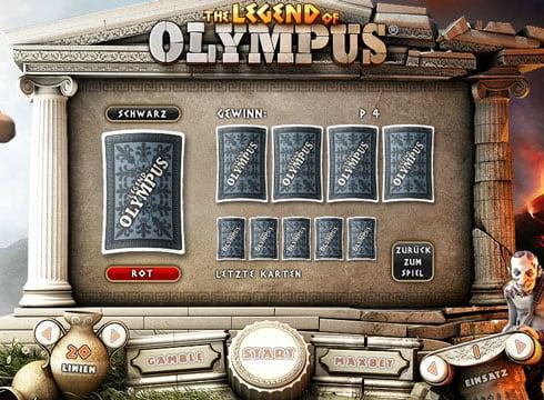 Риск-игра в онлайн аппарате Legend of Olympus