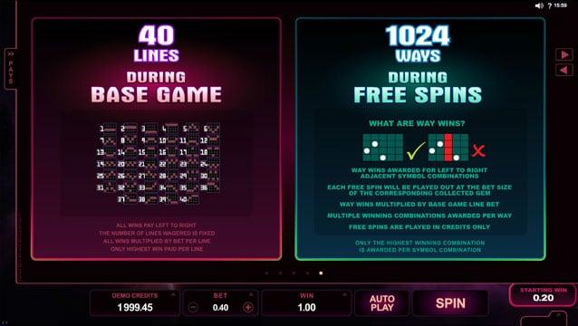 Режимы игры в онлайн аппарате Stardust