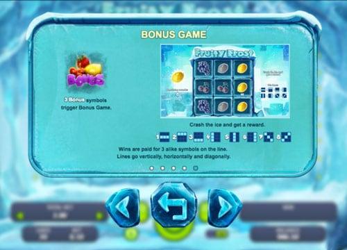 Бонус игра в онлайн автомате Fruity Frost