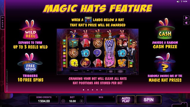 Особенности волшебной шляпы в онлайн автомате Rabbit in the Hat