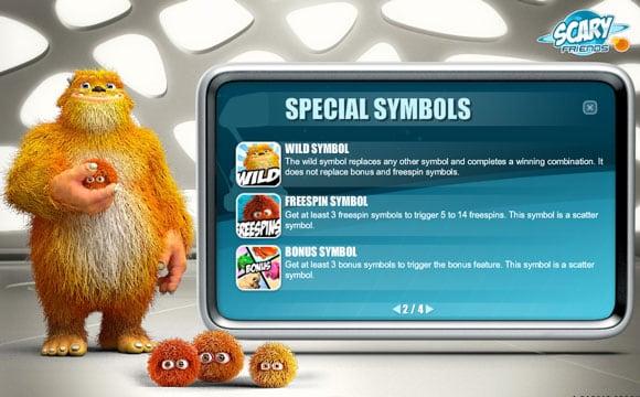Специальные символы онлайн игры Scary Friends