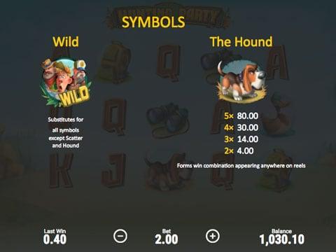 Символы игры в онлайн слоте Hunting Party